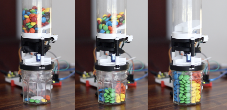 Compact M&M Sorter Goes Anywhere