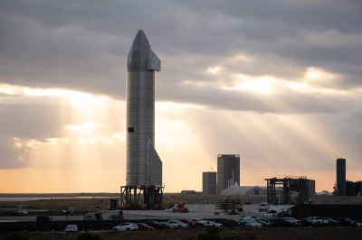 The SpaceX Starship SN9 on the launch pad. Jared Krahn, CC BY-SA 4.0.