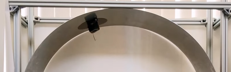 Robot Clings to Ceiling