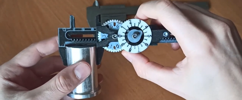 3D Printed Calipers Work like Clockwork
