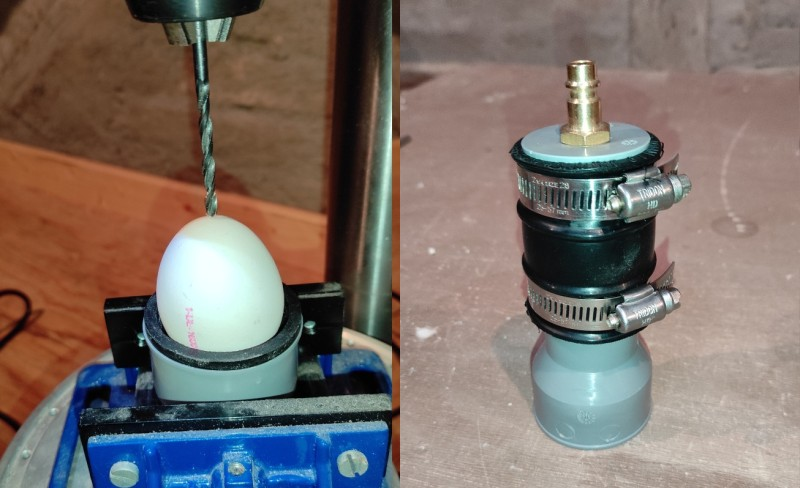 Teach Your Air Compressor to Blow Eggs