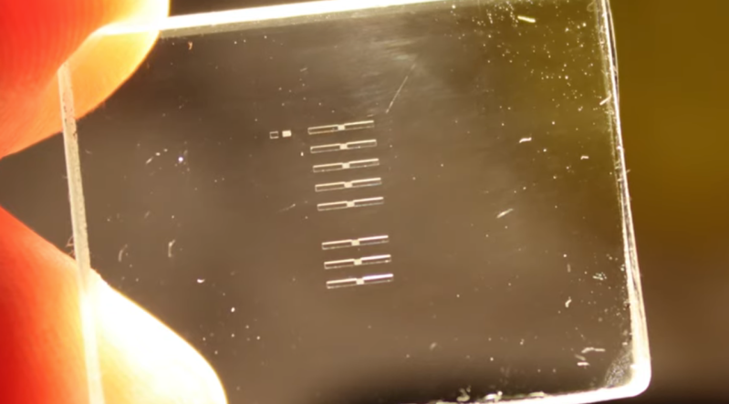 Tiny Tesla Valves Etched in Glass