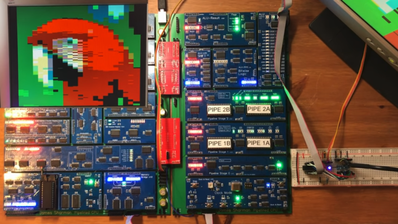 VGA From Scratch On A Homebrew 8-bit Computer