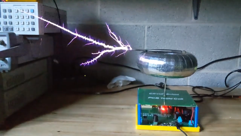 Flat Transformer Gives This PCB Tesla Coil Some Kick