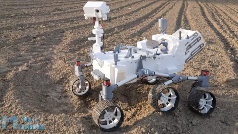 3D-Printed Scale Model of Perseverance Rover Seems as Complicated as the Real One