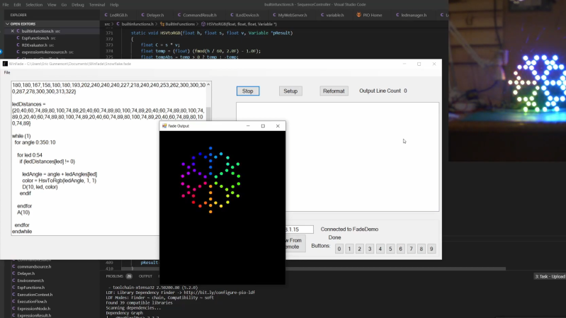 Dedicated LED Animation Framework For ESP32