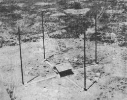 A 2 MHz Adcock installation;  public domain