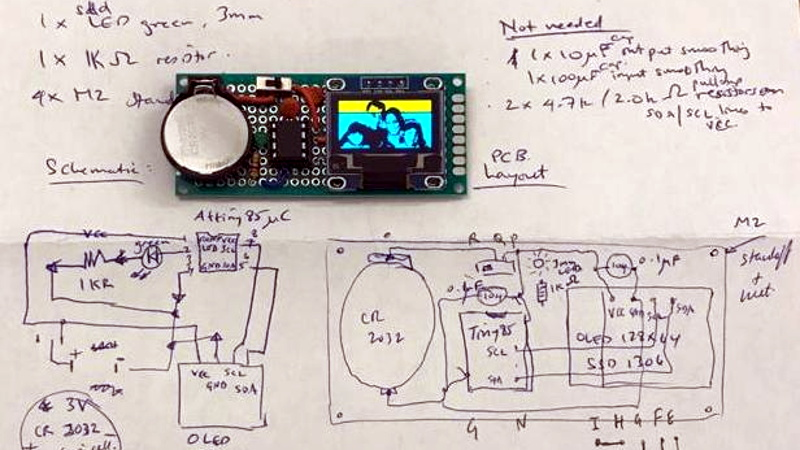 An OLED Photo Frame Powered by the ATtiny85