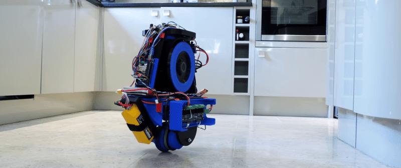 Monowheel Balancing Robot Can't Turn (Yet)