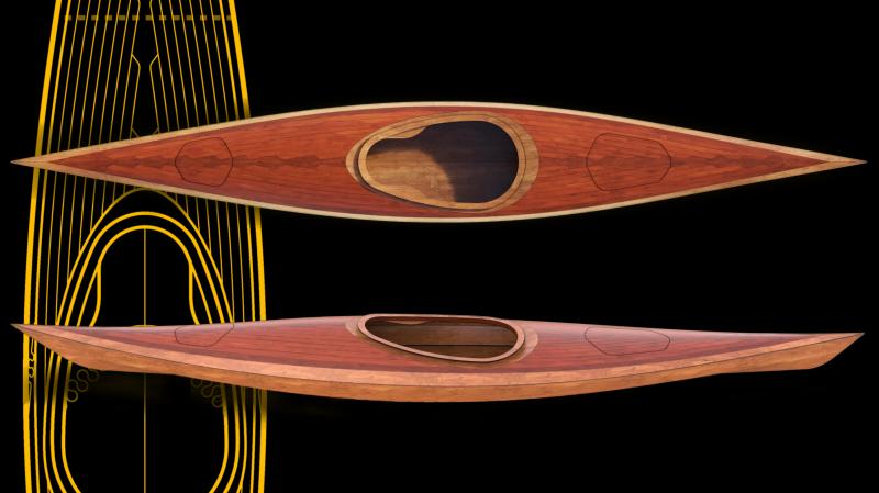 wood kayak model