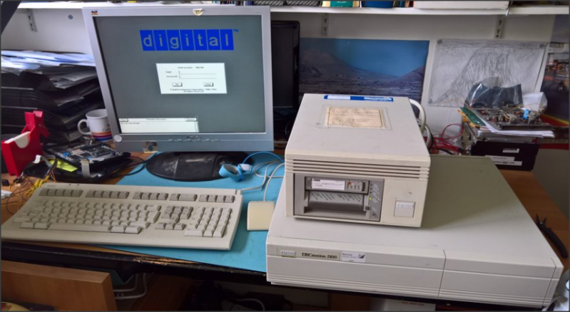 DEC microVAX with tape drive