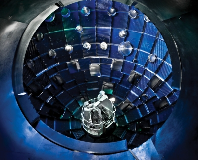 Target chamber at the National Ignition Facility
