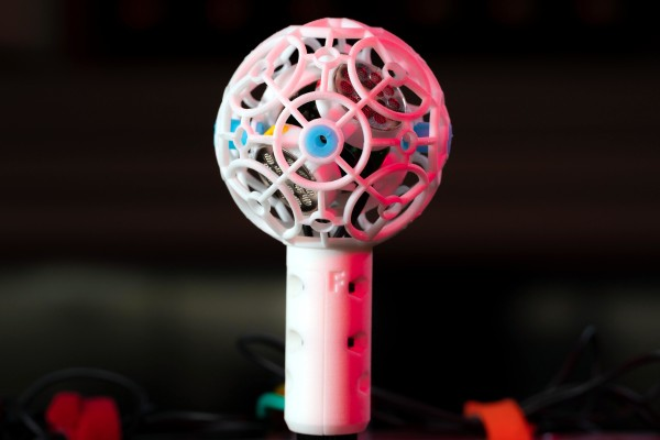 A 3D-printed DIY ambisonic microphone
