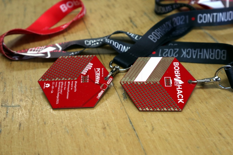 A little more than a prototyping board: the BornHack 2021 badge.
