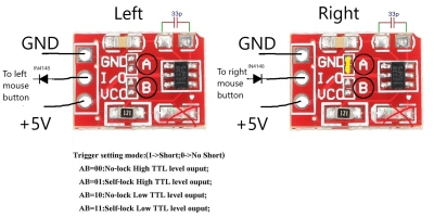 TTP223 touch sensor modules and the modifications necessary for this project.