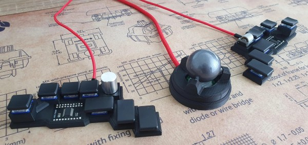 An open-source chording keyboard with trackball support.