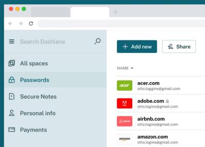 Dashlane hosted password safe
