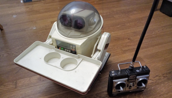 80's vintage Tomy Omnibot and Futaba RC Transmitter