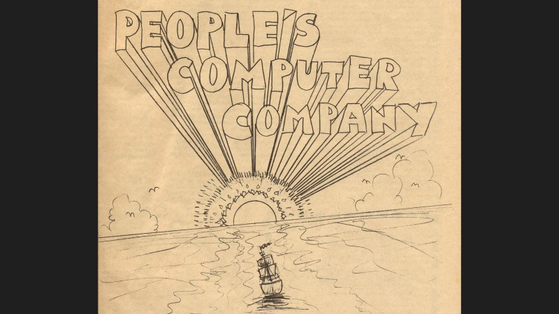People's Computer Company logo, drawn in a 1970's artistic style