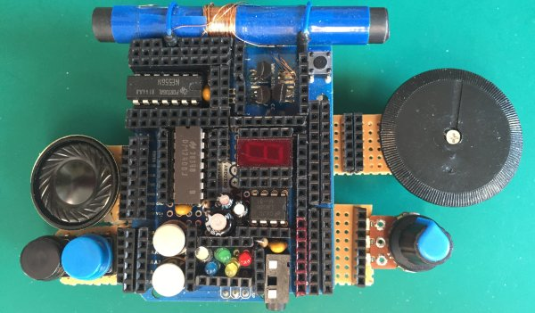 The Retro Shield, an Arduino Proto Shield for making many different circuits.