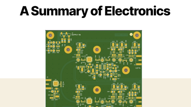 """the introduction page of """"a summary of electronics"""""""