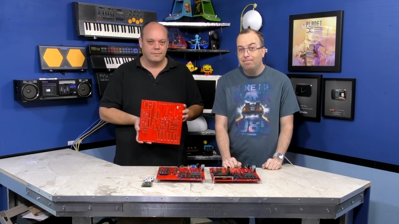 David Murray and Kevin Williams with an early X16 prototype