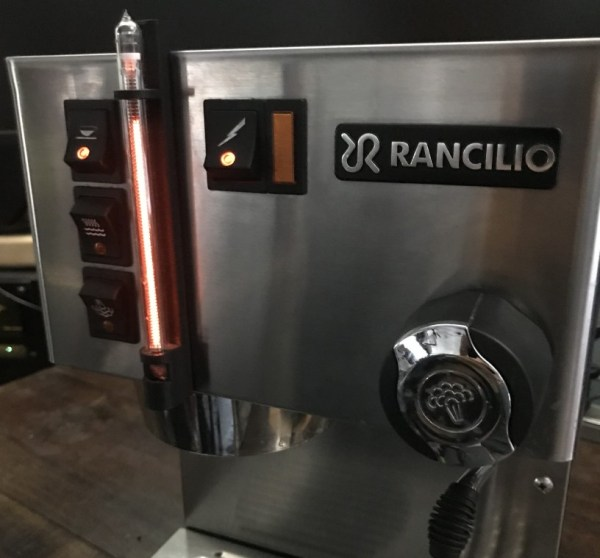 Espresso maker with added nixie flair