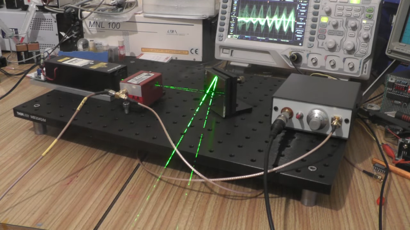 An acousto-optic tunable filter and laser