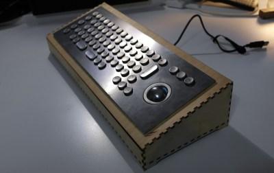 A laser cut enclosure for a custom keyboard
