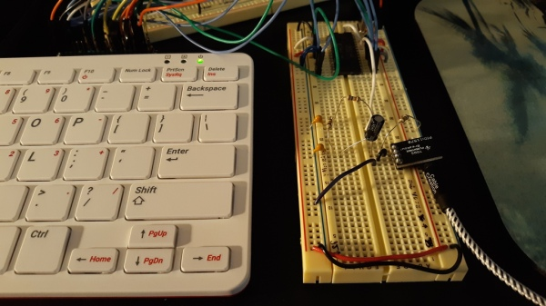 Breadboard containing speech synthesis chip