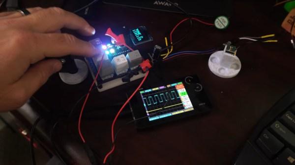 A macro keypad making music.