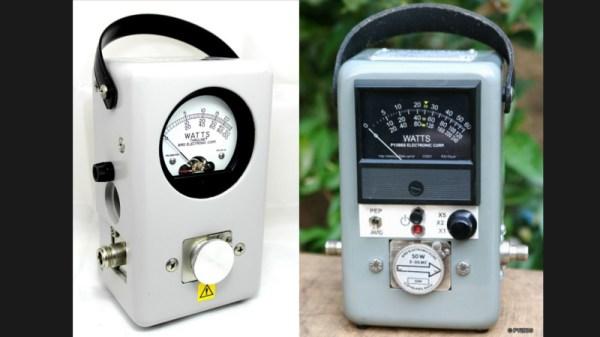 A Bird 43 wattmeter and its homebrew equivalent