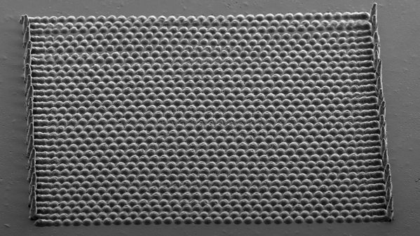 Scanning electron micrograph of a microfabricated lens array