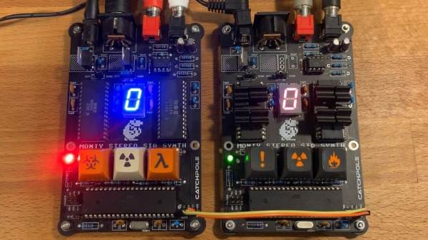 Two circuit boards with bright seven segment displays