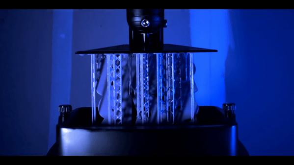 SLA printer rigged for time lapse