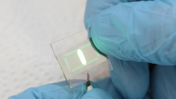 A homemade seven-segment OLED display
