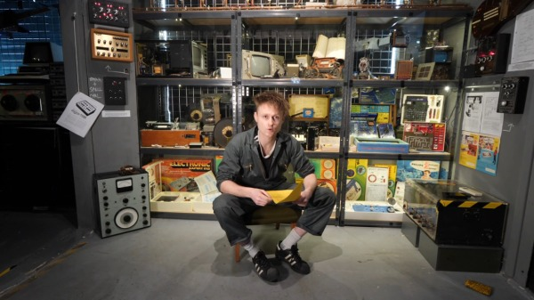 [Look Mum No Computer] sits inside his new museum of obsolete technology and synth oddities.