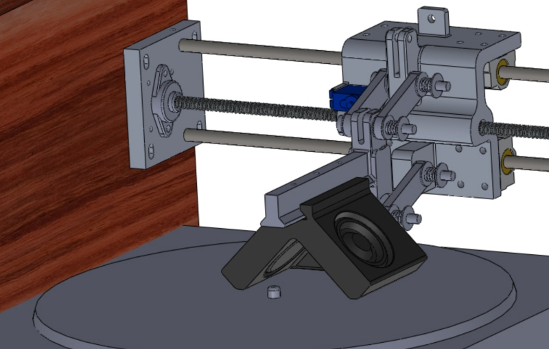CAD design for a vinyl record cutter.