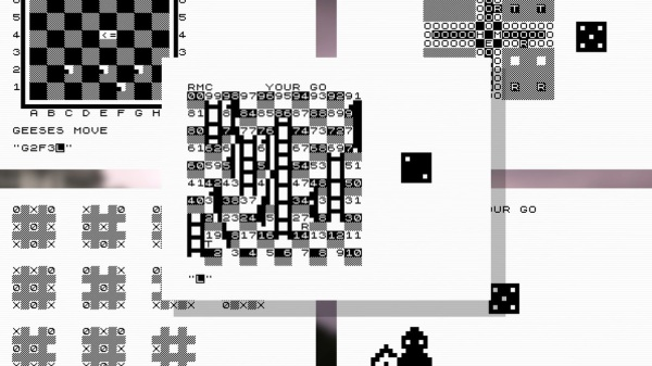 Examples of ZX81 computer game screens