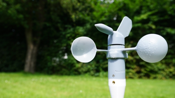 An anemometer outside
