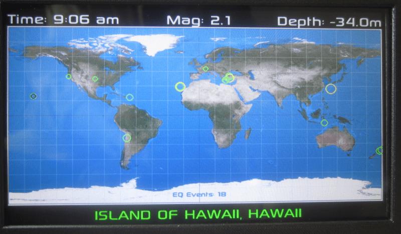Raspberry Pi Plots World Wide Earthquakes