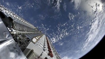 Starlink satellites shortly after launch