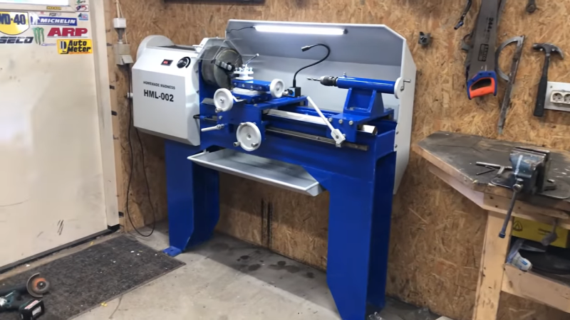 Heavy Metal Lathe Build Doesn't Spare the Steel