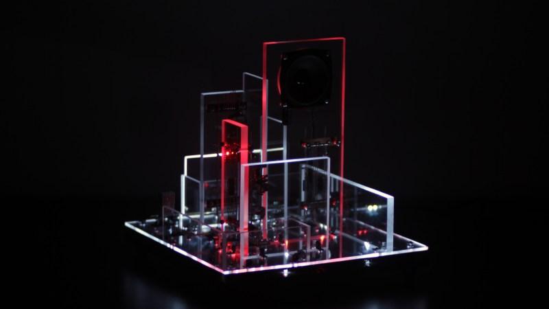 ddrysfeöd circuit art sound and light scultpture