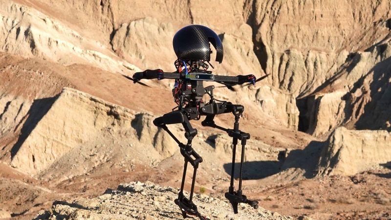 LEONARDO, a hybrid drone and bipedal robot